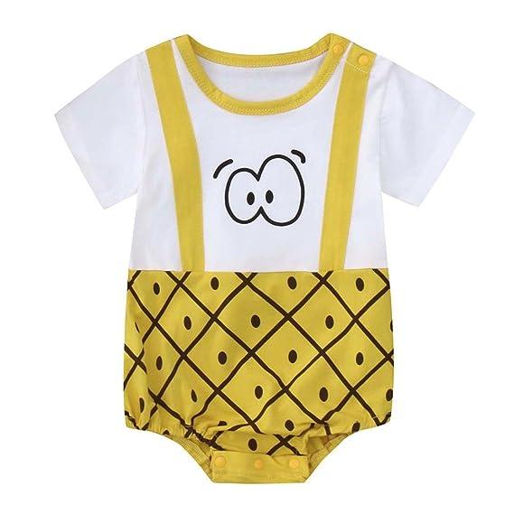 PAOLIAN Mameluco para Unisex bebé Niños Verano 2018 Ropa para Recién Nacidos Niños Bautizo Bodies Monos