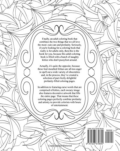 Amazon Cursing Cats A Very Sweary Coloring Book For Adults Only 9781523679645 Books