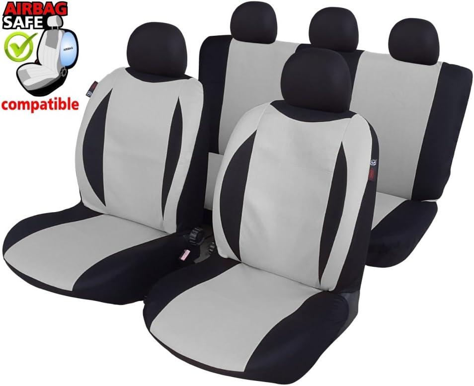 Akhan sb621/ Colore: Nero//Beige /Set coprisedili per Auto Fodere Coprisedili con airbag Laterale