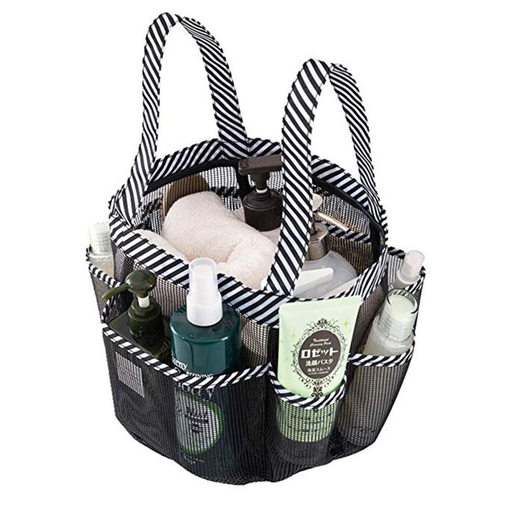 LUOXIN Organizador de ba/ño de Secado r/ápido para Bolsa de Ducha con 8 Bolsillos Port/átil de Malla de Ducha para champ/ú y Otros Accesorios de ba/ño