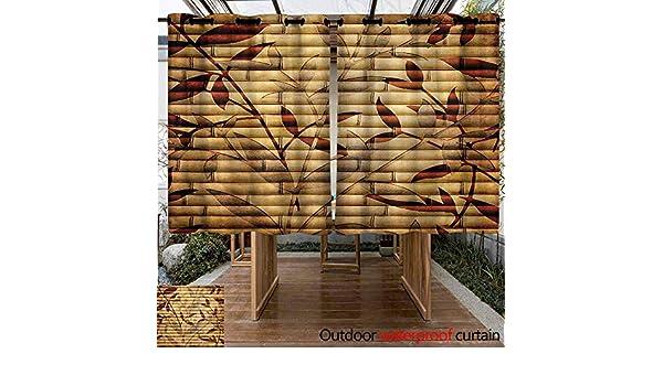 Sunnyhome - Cortina de bambú para Exteriores, diseño de Hojas ...