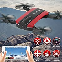 Flymemo JXD 523W Altitude Hold HD Camera WIFI FPV RC Quadcopter Drone Selfie Foldable Helicopter