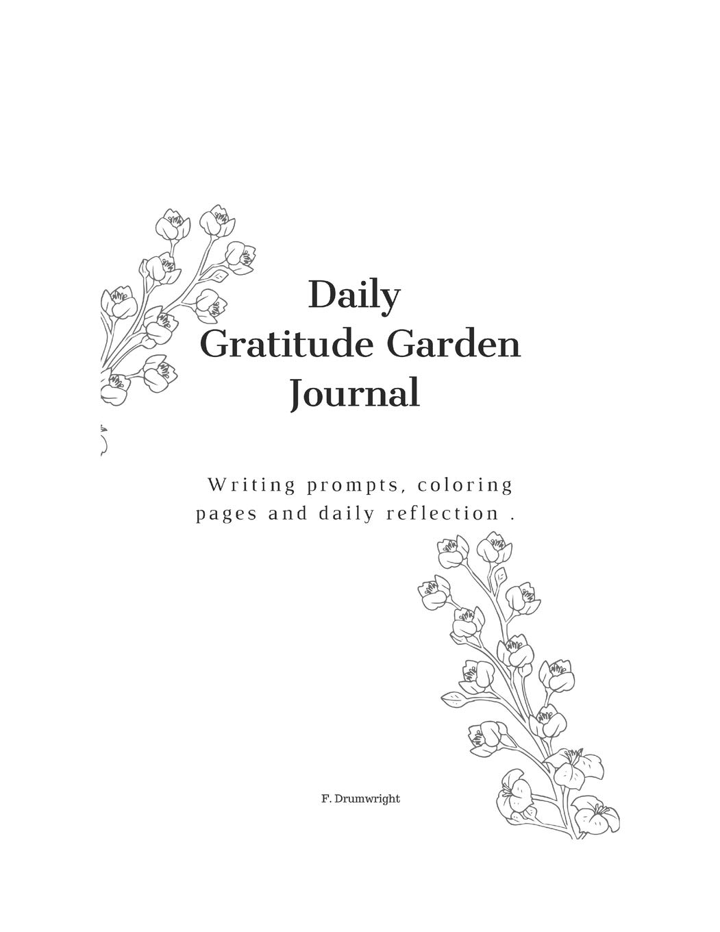 Daily Gratitude Garden Daily Journal With Writing Prompts Coloring