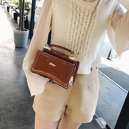 Ladies bag small leisure shoulder square GMYAN Brown Shoulder Bag Mini jog chain TvxTawCqd