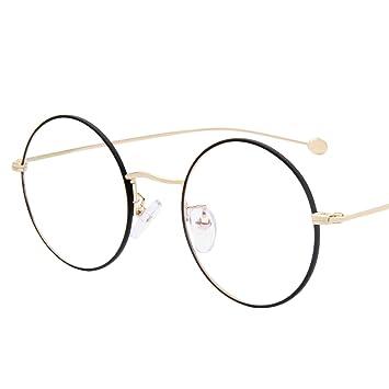 Amazon.com: LianSan Women Round Metal Oversized Optical Glasses ...