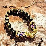 MANRUO Feng Shui Black Obsidian Wealth Bracelet