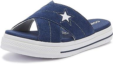 Converse One Star Womens Sandals Blue