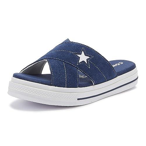 Converse One Star Damen Sandalen Blau