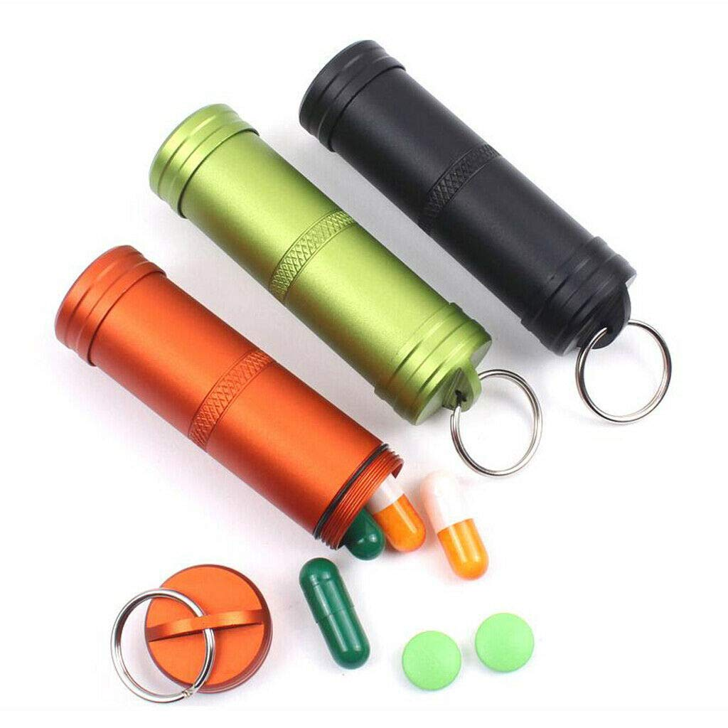 88eb191c9831 Amazon.com: NATFUR 2X Aluminum Alloy Waterproof Pill Bottle Case Box ...