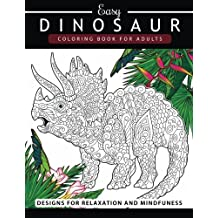 Dinosaur Coloring Book For Adults And Kids Grown Ups Pages