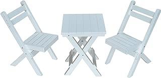 product image for Amish Poly Coronado Square Folding Bistro Set (White)