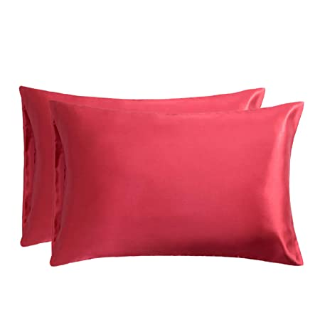 Federe Cuscini 60 X 80.Bedsure Federe In Raso 40 X 80 Cm Rosso Federe Cuscino Letto