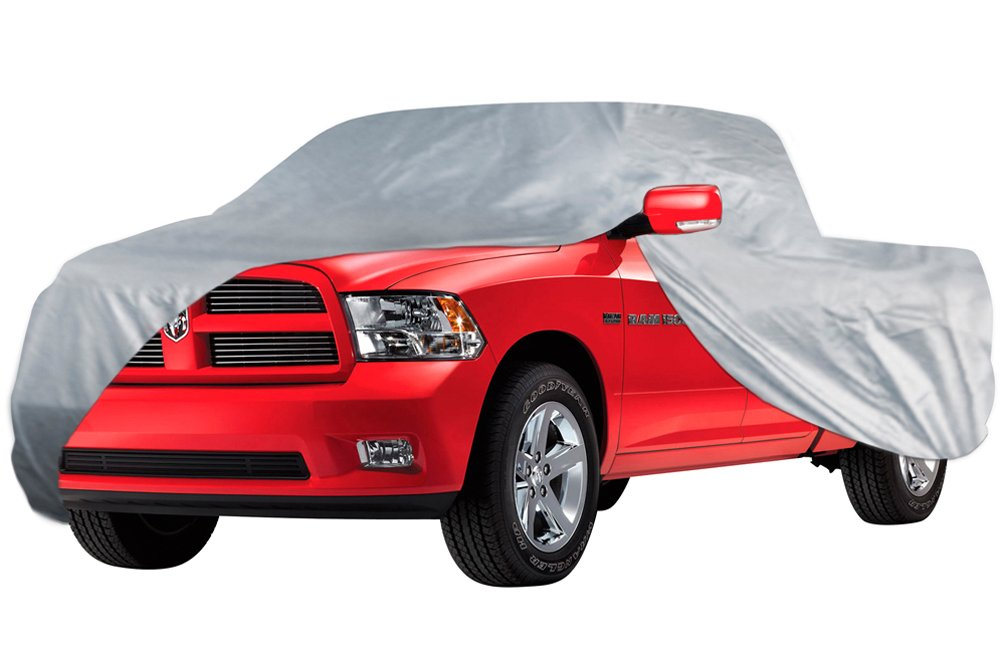 OxGord CTRK-613-26-RP-AMZ Pickup 2 Door Short Bed Truck Cover - In-Door 2 Layers - Ready-Fit, Semi Glove Fit