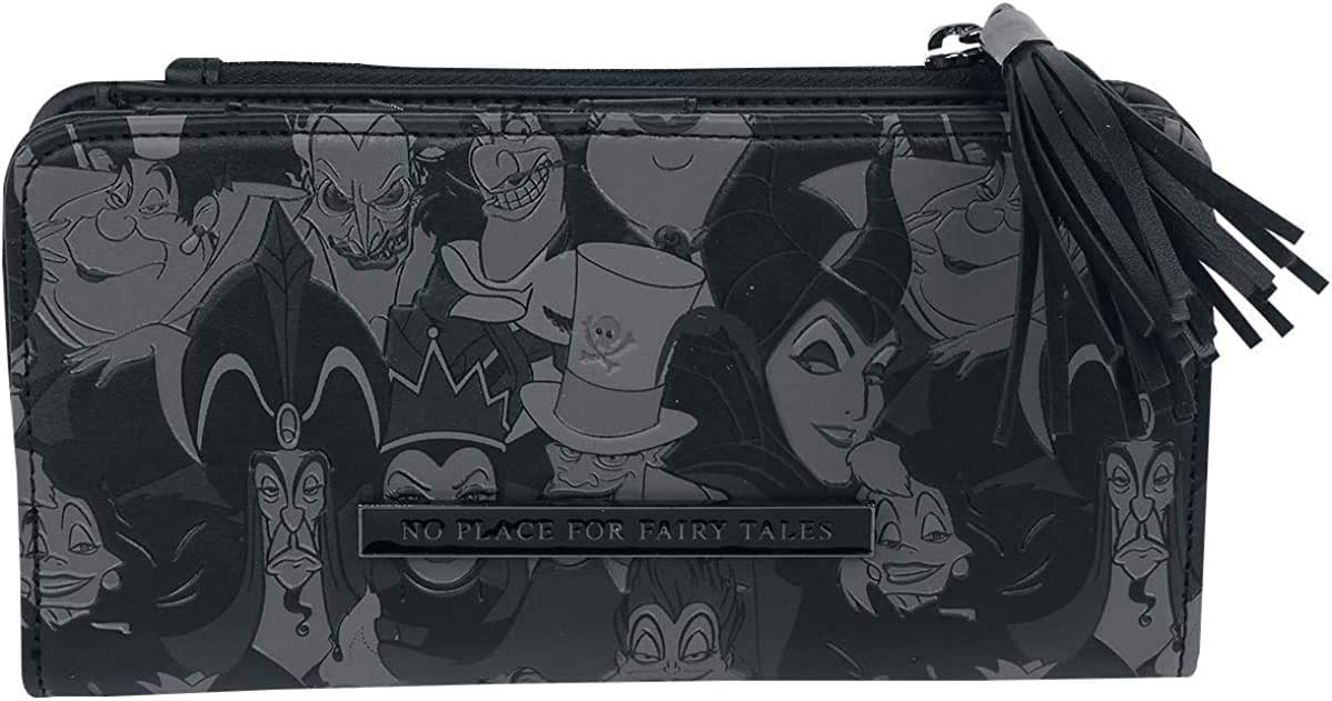 Loungefly Disney Villains Debossed All Around Faux Leather Zip Wallet (one size, Multi)