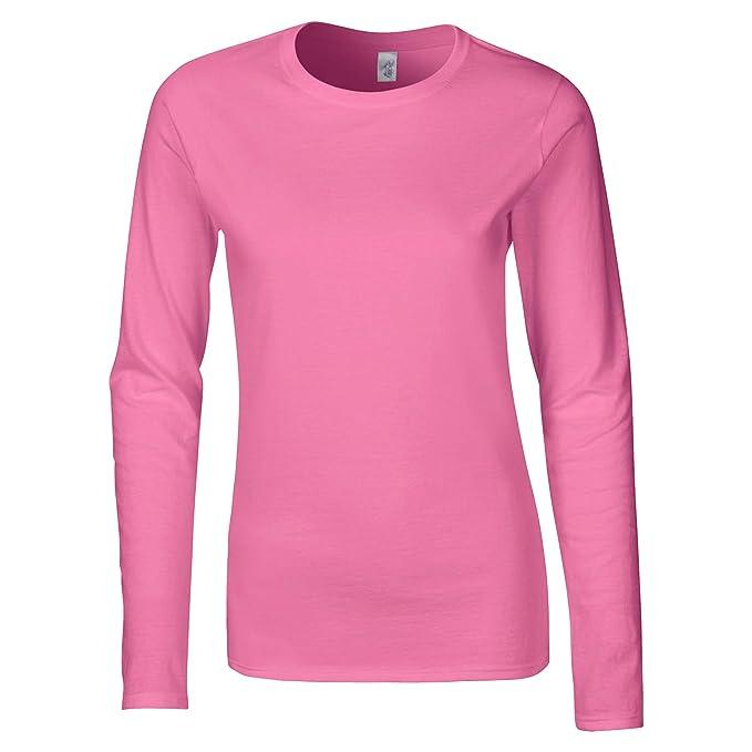 33108681280c Gildan- Camiseta básica de manga larga suave para chica