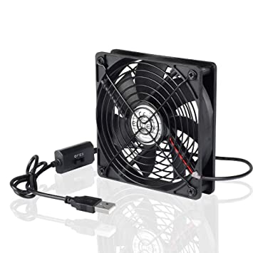 ELUTENG Ventilador USB 120mm con L/M/H 3 Velocidad 5V Ventiladores de USB para Hogar y Oficina o Viaje Portátil Metal Ventilador PC para PS4/Laptop/TV Box ...