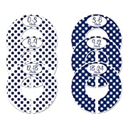 Closet Doodles C152 Navy Baby Boy Clothing Dividers Set of 6 Fits 1.25inch Rod