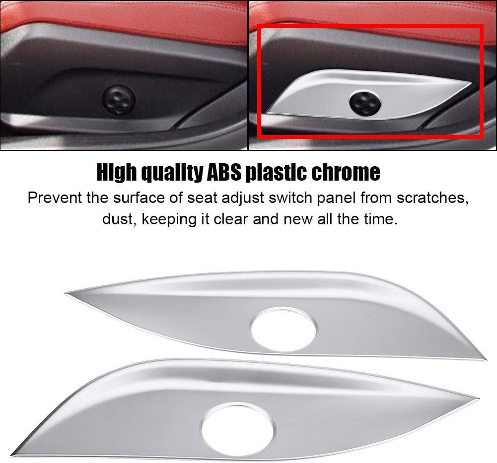 Suuonee Seat Switch Trim 2Pcs Seat Adjust Switch Button Cover Panel Trim for Mercedes Benz GLC//CLS//E//C Class W205 W212 W