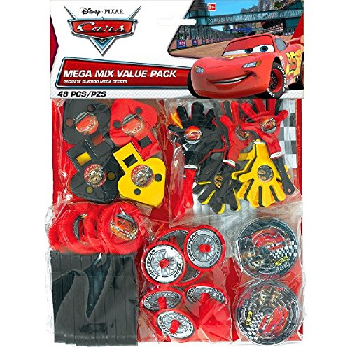 AmscanDisney Cars Formula Racer Birthday Party Mega Mix Assorted Favor Kit (48 Pack), 11