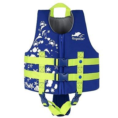 75edb5422995 Gogokids Chaleco de Baño para Niñas Niños - Chaleco de Natación Ropa de  baño Traje de Flotación Natación Aprendizaje