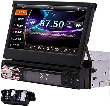 Estéreo 1din la radio de coche sistema de navegación GPS de 7 pulgadas del coche DVD