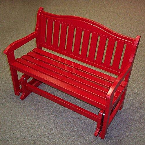 Garden Bench Glider Red - Prairie Leisure Garden Bench