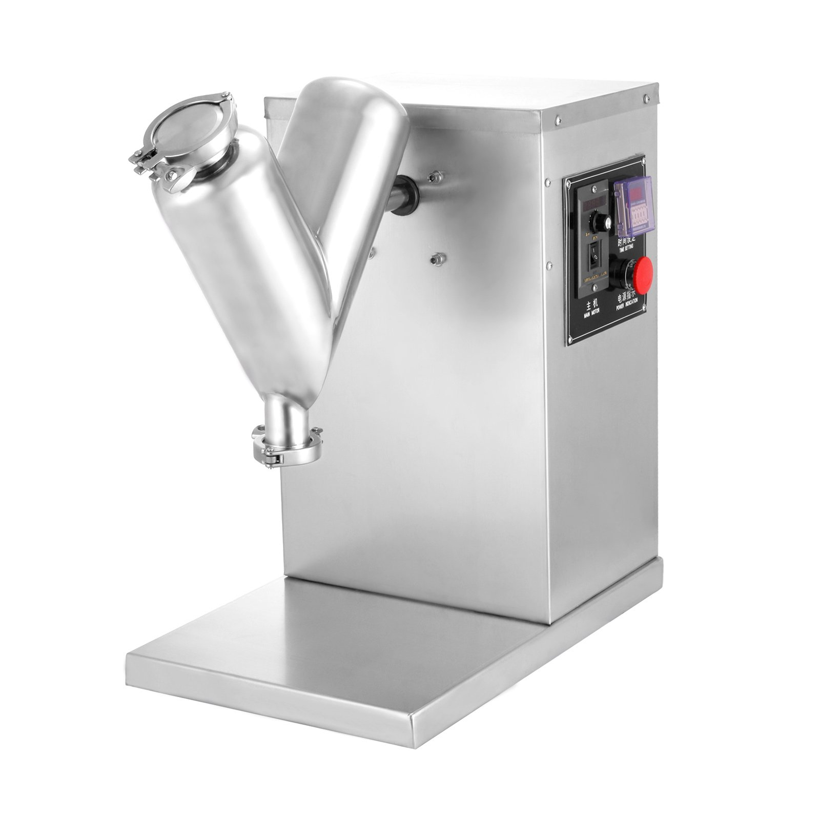 Happybuy 3L Powder Mixer Machine VH-2 Pharmaceutical Powder Mixer Stainless Steel Dry Powder Mixer V-type Powder Mixer Adjustable Laboratory Mixer Hig(3L) by Happybuy (Image #3)