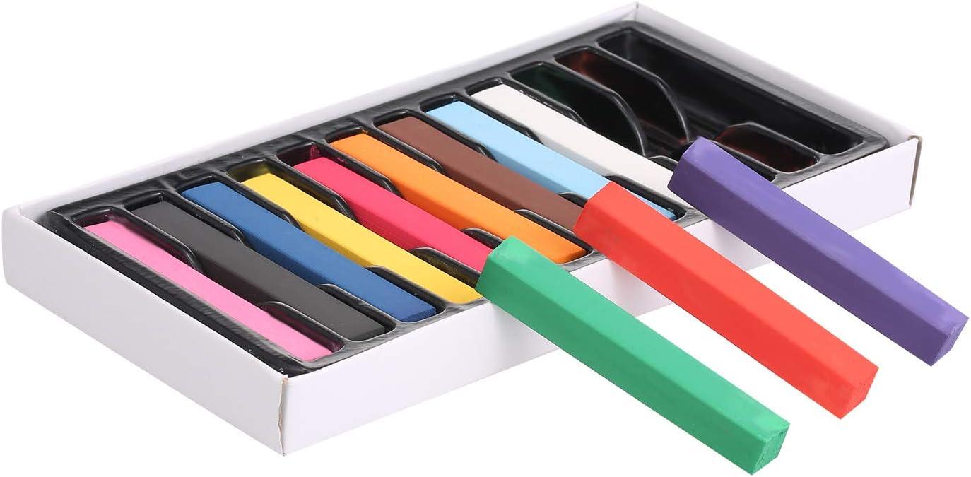 Anself 12 Colores Tiza para el Cabello Tinte para el Cabello ...