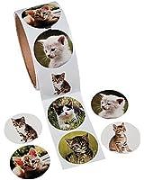 OTC - 100 Adorable KITTY CAT Stickers Kitten/KITTIES, Roll of 100