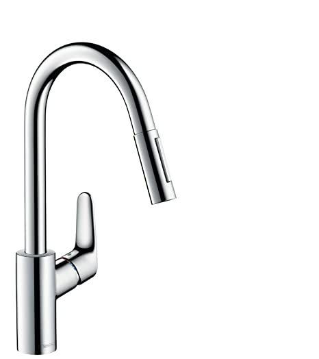hansgrohe Focus kitchen tap, pull out spray and 150° swivel range ...