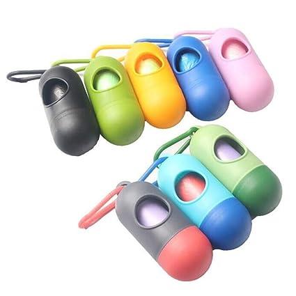 domybest bolsa de pañales desechables dispensador con 20 bolsas de basura (colores al azar)