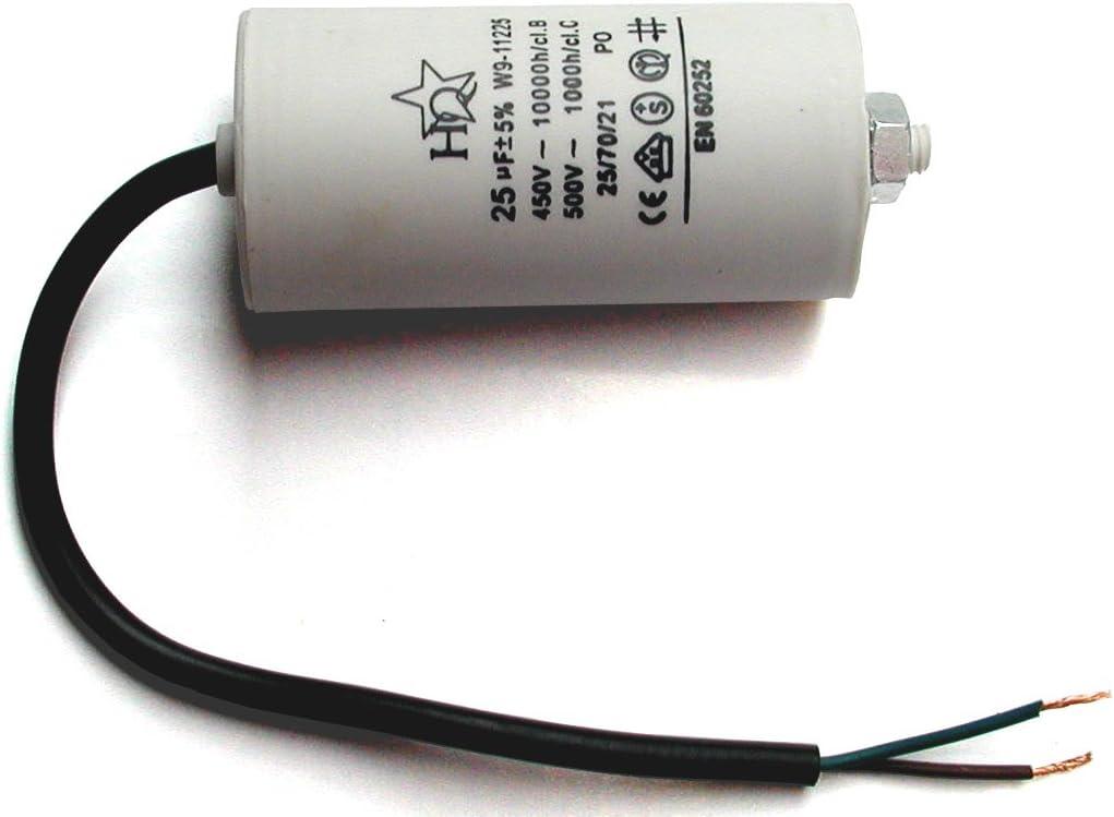 Anschlusskabel CBB60 Kondensator 20µF Motorkondensator 20uF 500VAC m