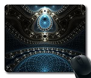 Fractal 29 Gaming Mouse Pad Personalized Hot Oblong Shaped Mouse Mat Design Natural Eco Rubber Durable Computer Desk Stationery Accessories Mouse Pads For Gift - Support Wired Wireless or Bluetooth Mouse