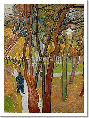 The Garden Of Saint Paul'S Hospital (`The Fall Of The Leaves') By Vincent Van Gogh Paper Print Wall Art (16in. x 12in.) Barewalls Leaf