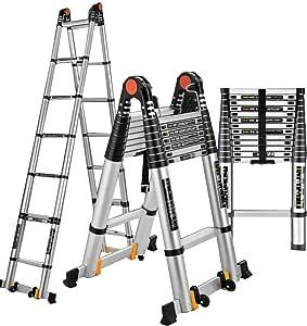 JGWJJ Escalera de Rodadura Plegable Escalera de Tijera Portátil Plegable Antideslizante Acero Acero Resistente con Pasamanos de Seguridad Pies Antideslizantes de Goma, Escalera doméstica 150 kg Carga: Amazon.es: Hogar