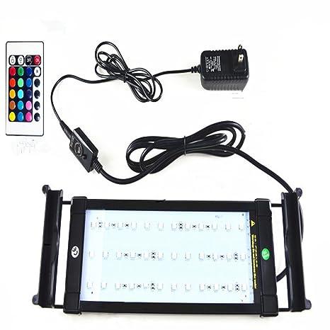 Glighone Luz de Acuarios y Peceras Lámpara de Acuario 36 RGB LED 7W para Plantas Sumergible