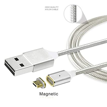 Amazon.com: SmartSee 2.4A Micro USB Cable de carga magnético ...