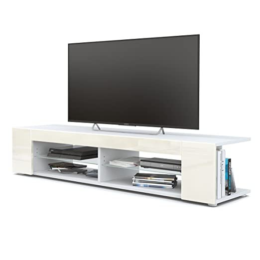 Mesa para TV Lowboard Movie, Cuerpo en Blanco Mate/Frentes en ...