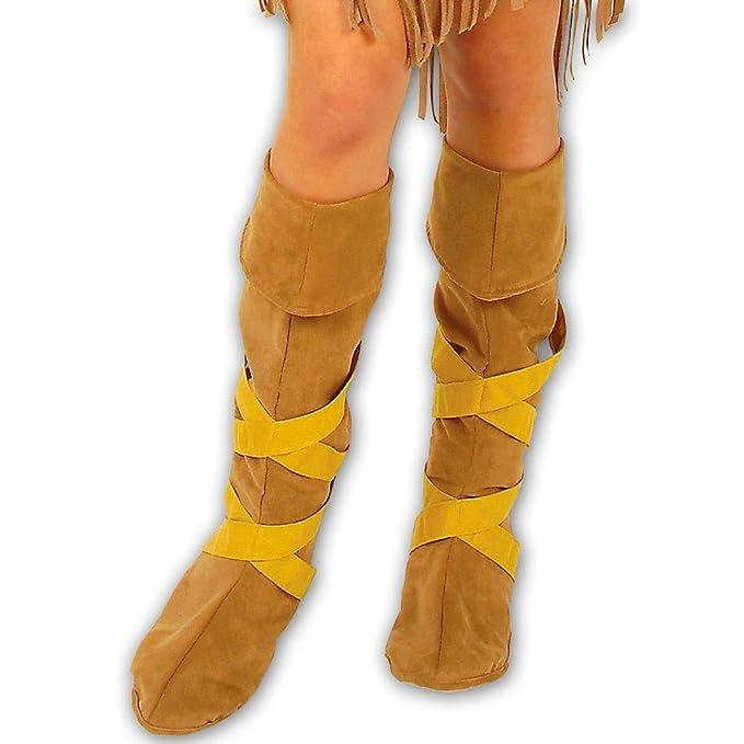 Botas hippies calzas vikingo edad de piedra indios años 70 accesorios: Amazon.es: Juguetes y juegos