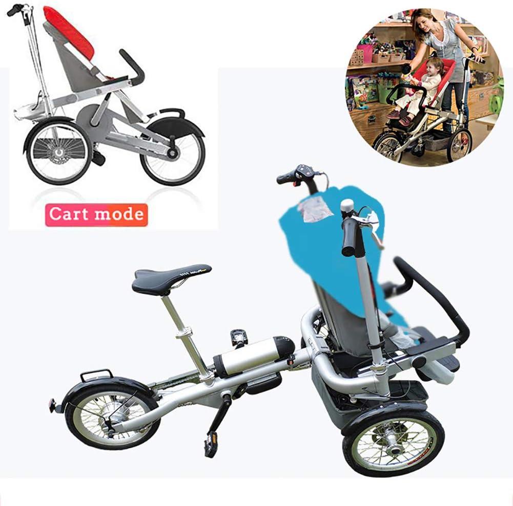 FLy 2 En 1 Eléctrica para Niños Bicicleta De Cochecito De Bebé 2 En 1 Desmontable con Resistente A Los Golpes 2 Modos Convertible Gratis Adulto Unisex(10 Meses - 7 Años),Azul: Amazon.es: Hogar