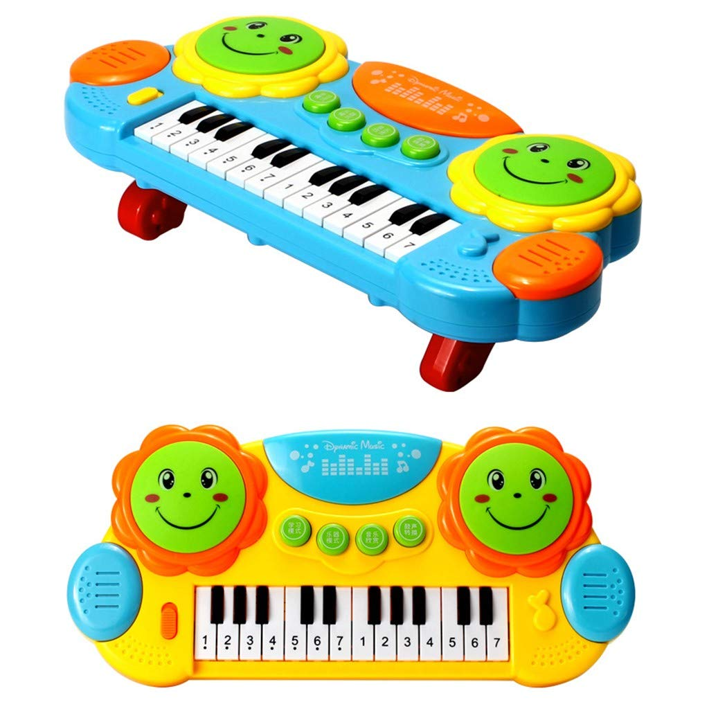 Shisay Sound and Light Music Education Keyboard 24-Key Childhood Education Multi-function Electronic Instrument Pat Drum Toy Infant Early Educational Gifts 3 year and up (24-Key Piano) by Shisay (Image #6)