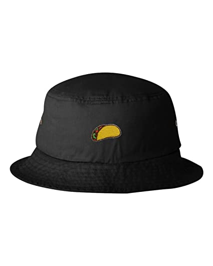 a4d0295542c Amazon.com  Go All Out One Size Black Adult Taco Embroidered Bucket ...