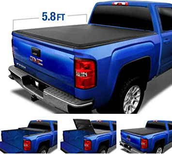 Amazon Com Tyger Auto Black Top T3 Soft Tri Fold Truck Tonneau