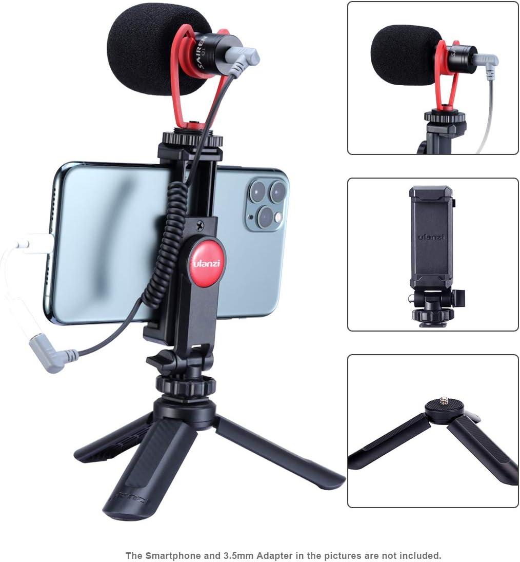 ULANZI - Kit de vídeo para Smartphone, Mini trípode + Soporte Universal para trípode + micrófono de vídeo Escopeta, Equipo de Youtube para iPhone 11 Pro MAX XS 8 Samsung Google OnePlus: Amazon.es: Electrónica