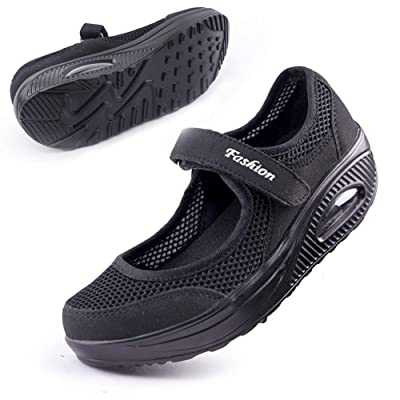 Women's Comfortable Working Nurse Shoes Non-Slip Adjustable Breathable Walking Buffer Fitness Casual Nursing Orthotic Lightweight Shoes Arthritis, Diabetes Heel Pain, Foot Pain, Plantar Fasciitis | Shoes