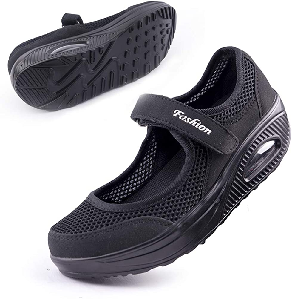 | Women's Comfortable Working Nurse Shoes Non-Slip Adjustable Breathable Walking Buffer Fitness Casual Nursing Orthotic Lightweight Shoes Arthritis, Diabetes Heel Pain, Foot Pain, Plantar Fasciitis | Walking