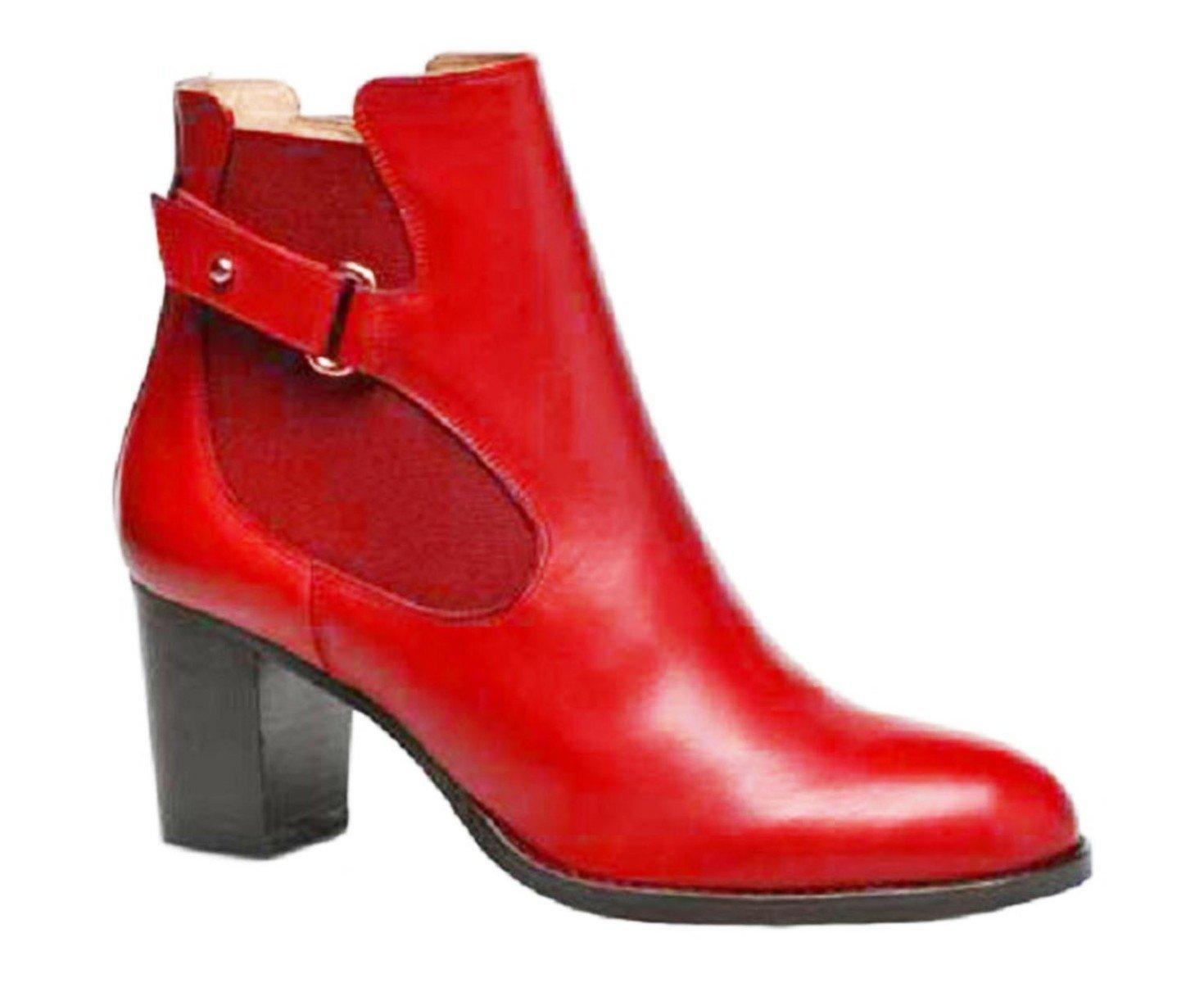 11sunshop - Botas de Otra Piel para mujer33 EU|Rojo
