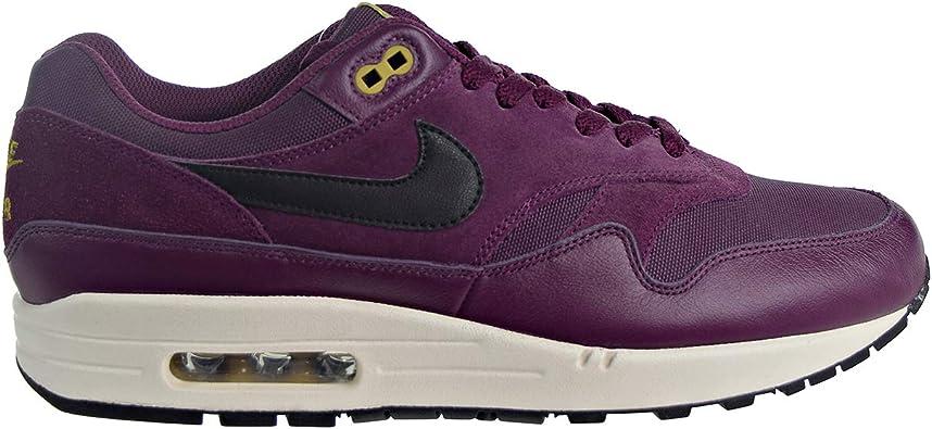 Nike Air Max 1 Premium Men's Shoes BordeauxDesert MossBlack 875844 601 (10 D(M) US)