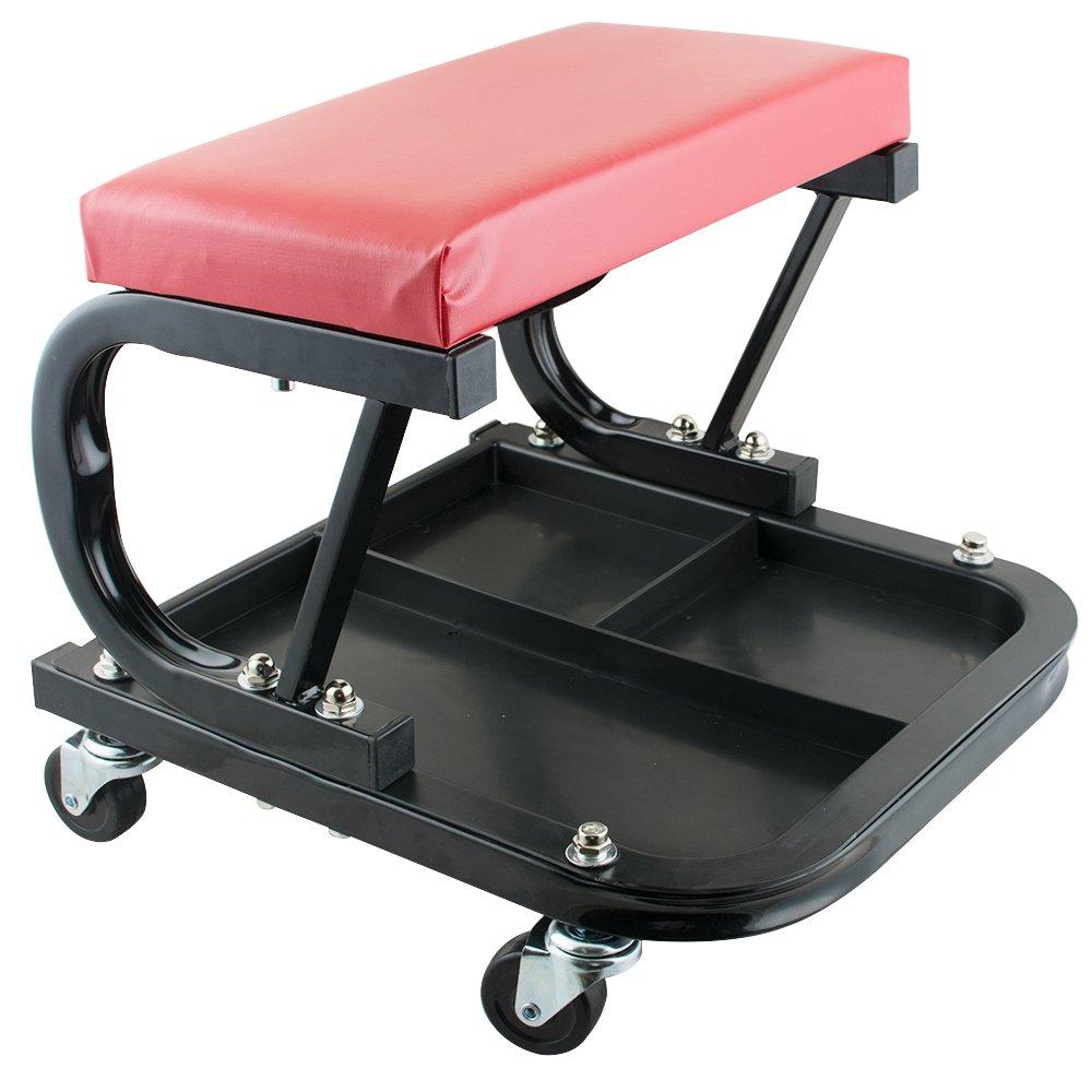 Vinmax Car Repair Roller Seat Padded Roller Creeper Auto Workshop Bench Garage Maintenance Tools
