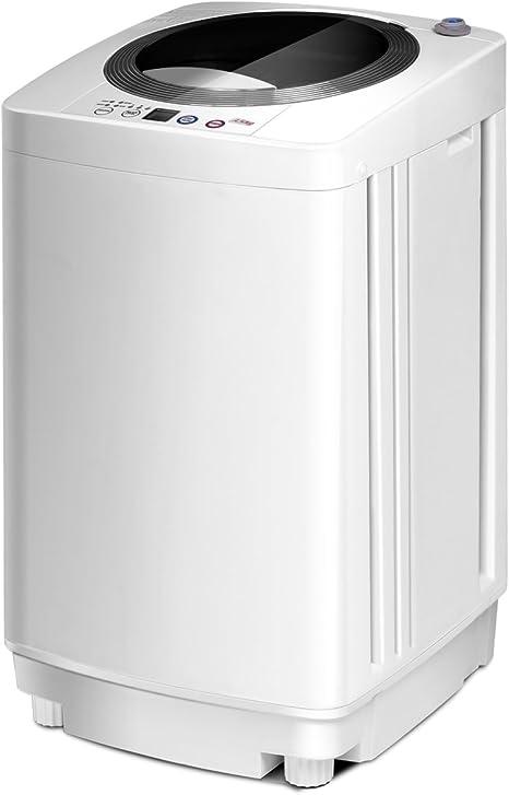 costway Mini lavadora lava 240 W Secadora con un Bucket automática ...